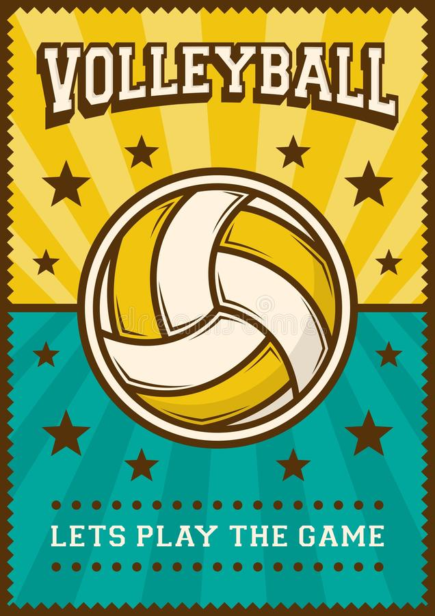 Volley Ball Volleyball Sport Retro Pop Art Poster Signage vector illustration