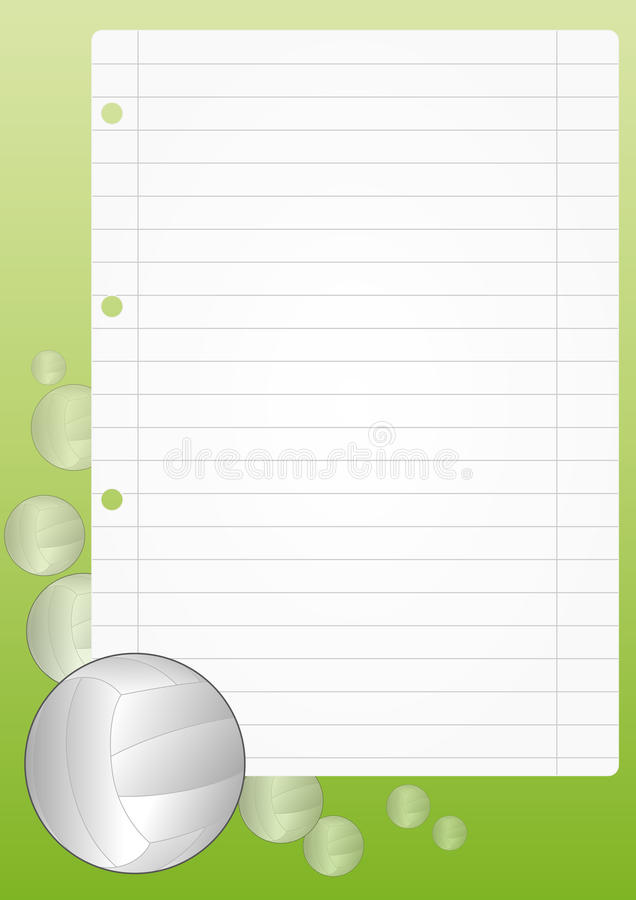 Download Volley sheet stock vector. Image of white, paper, colorful - 26169213