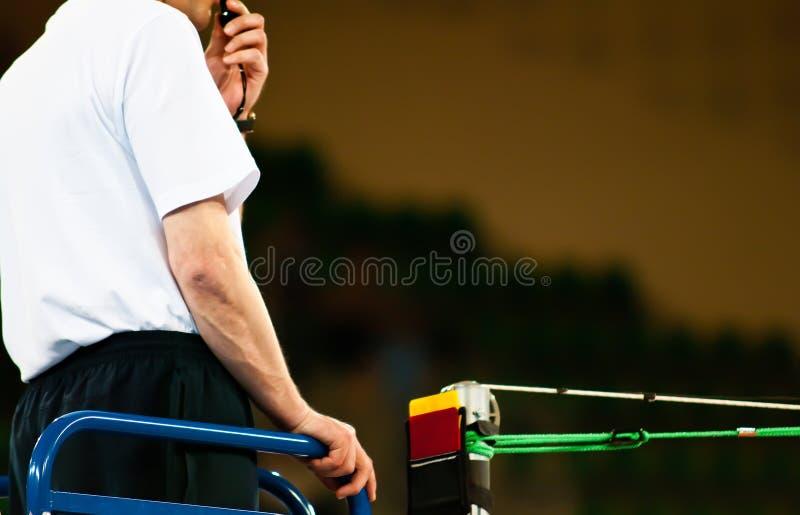 Volleyaball do árbitro da cadeira imagem de stock royalty free