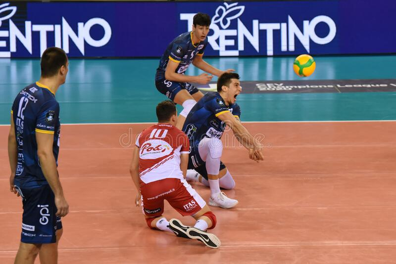 Volleybal Champions League Men Championship Cucine Lube Civitanova vs Itas Trentino stock image
