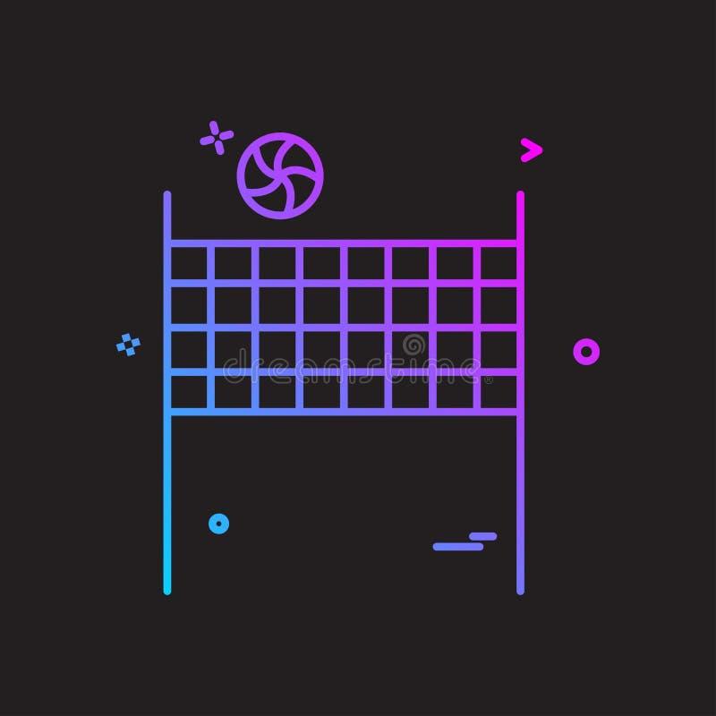 volleybal pictogram vectorontwerp stock illustratie