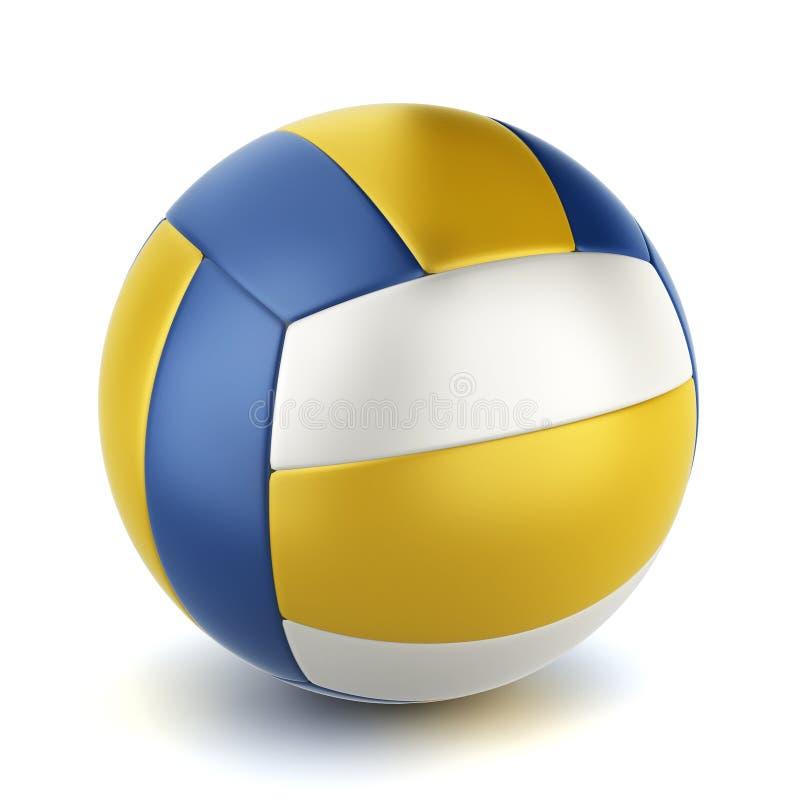 Volleyball球 皇族释放例证
