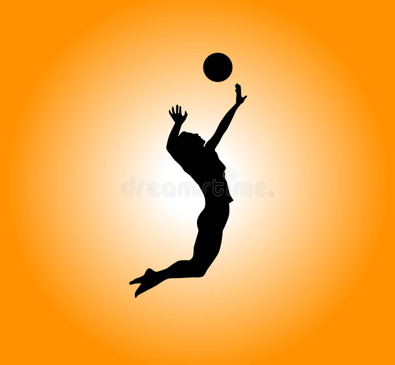 Volleyball stock afbeeldingen