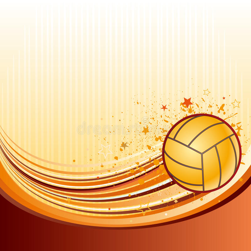 Download Volleyball stock vector. Image of modern, competition - 16172024