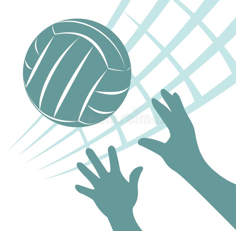 Volleyball stock abbildung