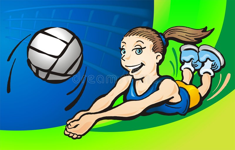 Volleyball stock abbildung