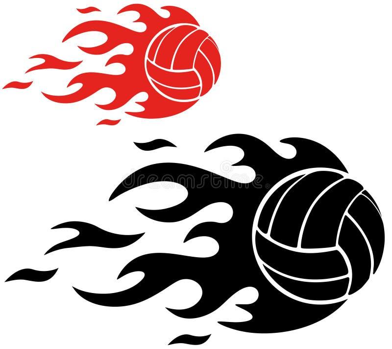 Volleyball illustration stock