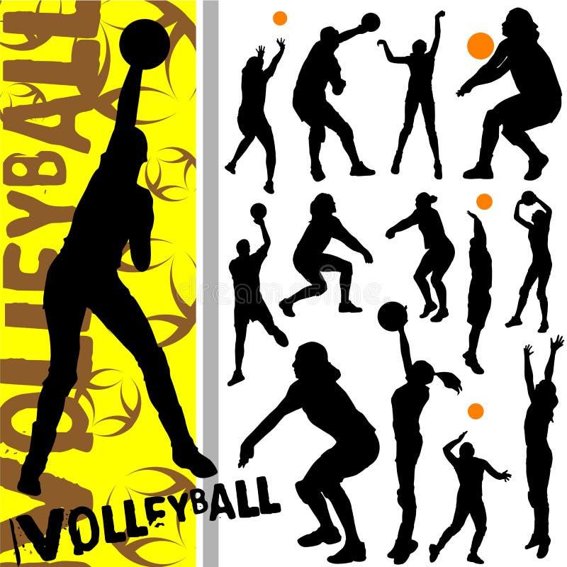 Volleyball illustration de vecteur