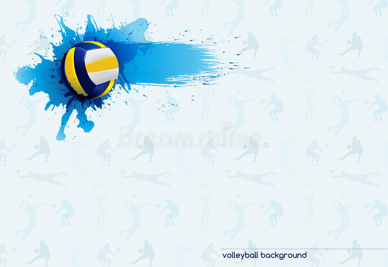 Download Volleyball abstract stock vector. Image of advertising - 42166648