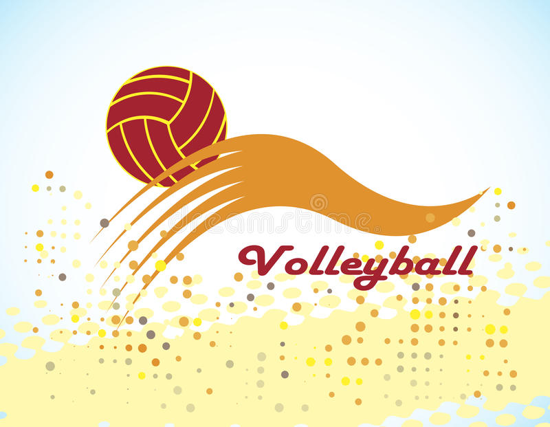 Volleyball Stock Vector. Image Of Jump, Health, Caucasian
