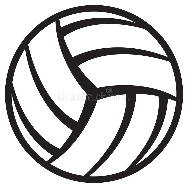 Volleyball ball royalty free illustration