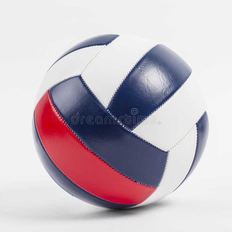 Volleyball ball. Leather volleyball ball close-up royalty free stock photography