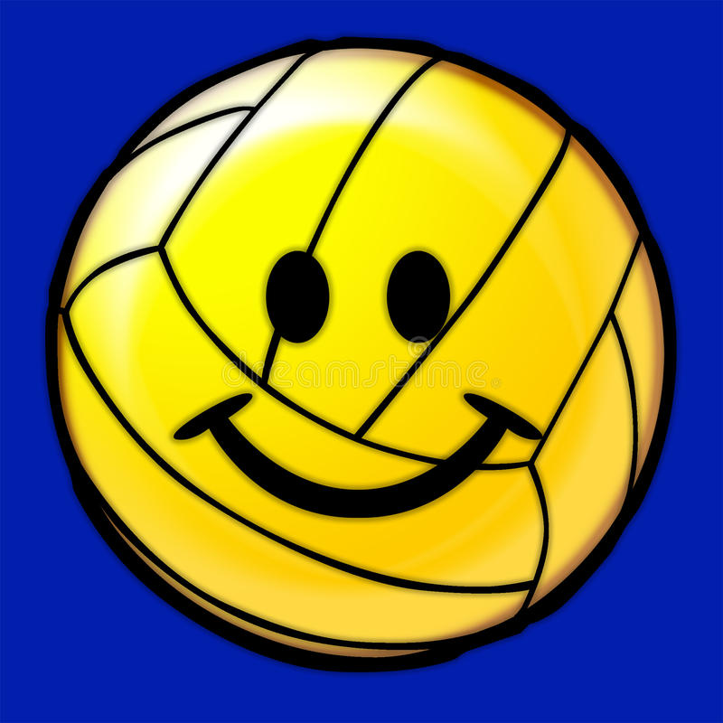 Volleyball Ball Smiling Face Image royalty free illustration