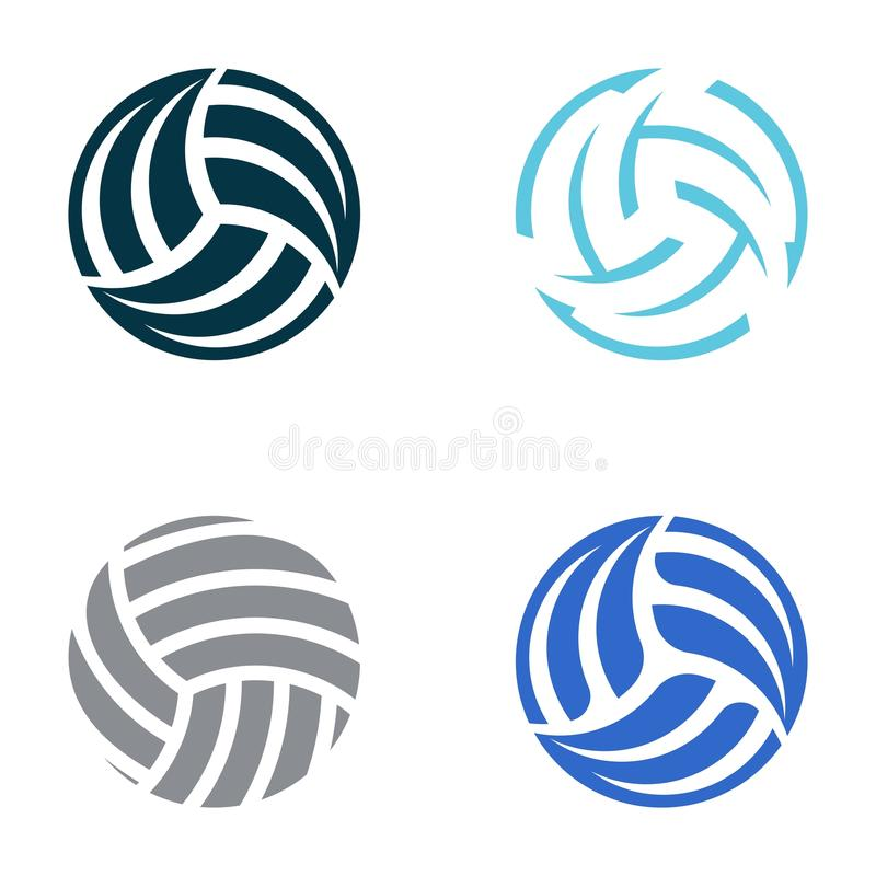 Volleyball Balls Stock Vector