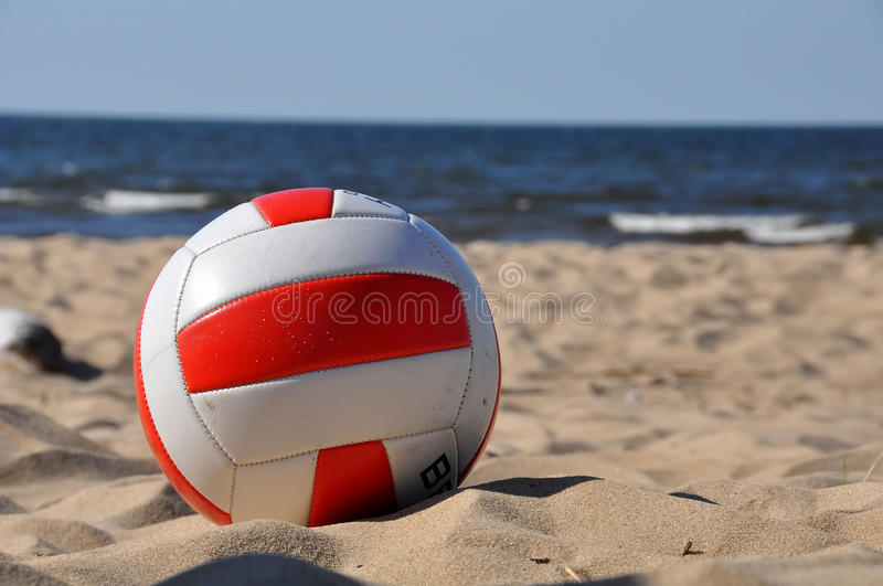 Volleyball on the beach royalty free stock photos