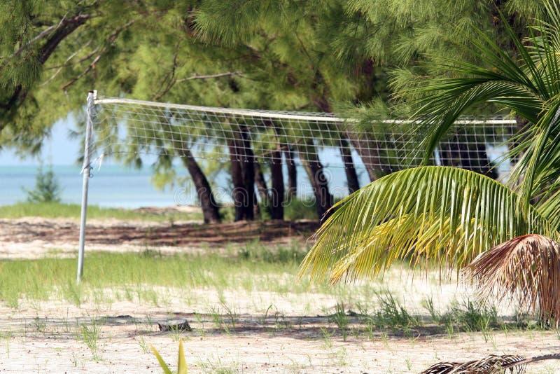 Volleyball bij het strand stock foto's