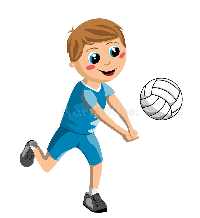 Download Volleyball Boy stock illustration. Image of game, ready - 27596503