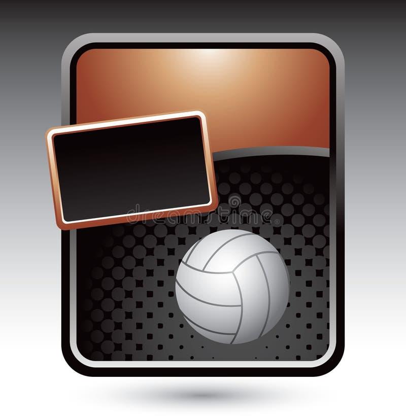 Volleyball on bronze stylized advertisement stock illustration