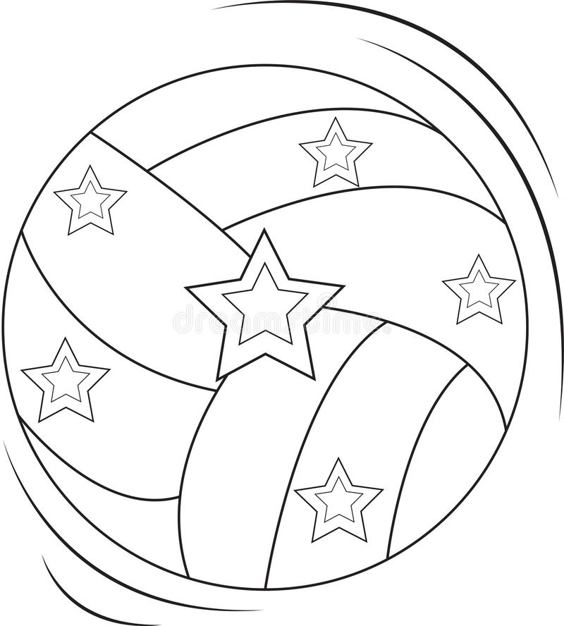 Download Volleyball Coloring Page Stock Illustration Of Colourful