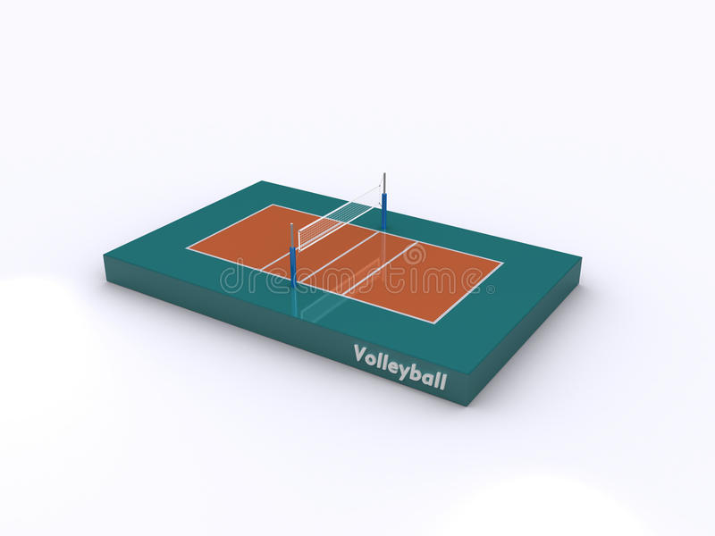 Download Volleyball court icon stock image. Image of court, ball - 16934643