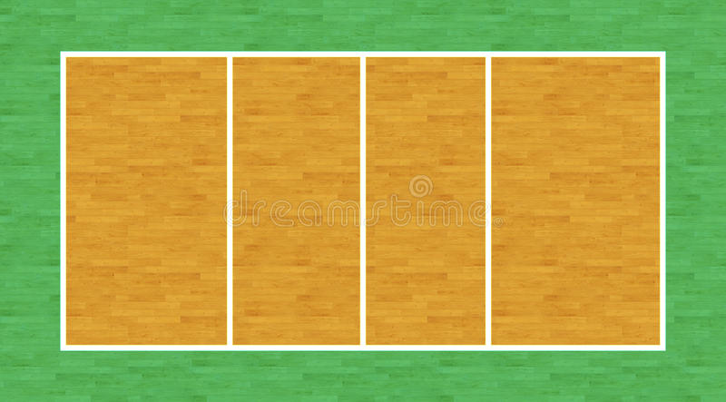 Volleyball Court. An overhead view of a volleyball court complete with markings stock illustration
