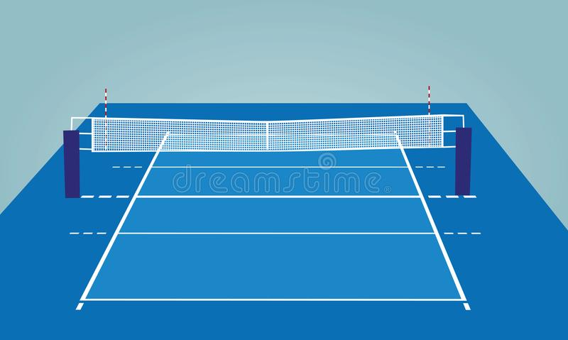 Volleyball court.perspective view. Vector illustration stock illustration
