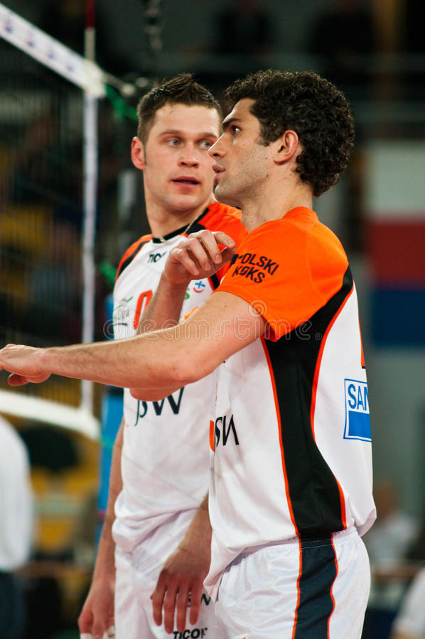 Volleyball de la Pologne de cuvette de l'ENEA photos libres de droits