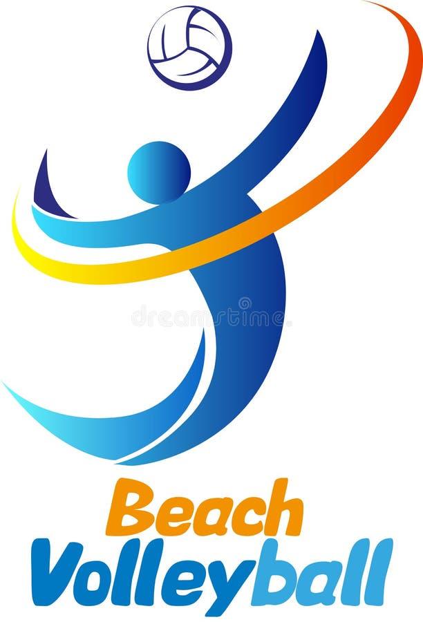 Volleyball de plage illustration libre de droits