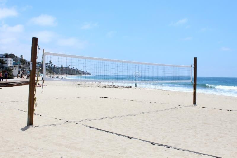 Volleyball de plage, Laguna Beach, la Californie image stock