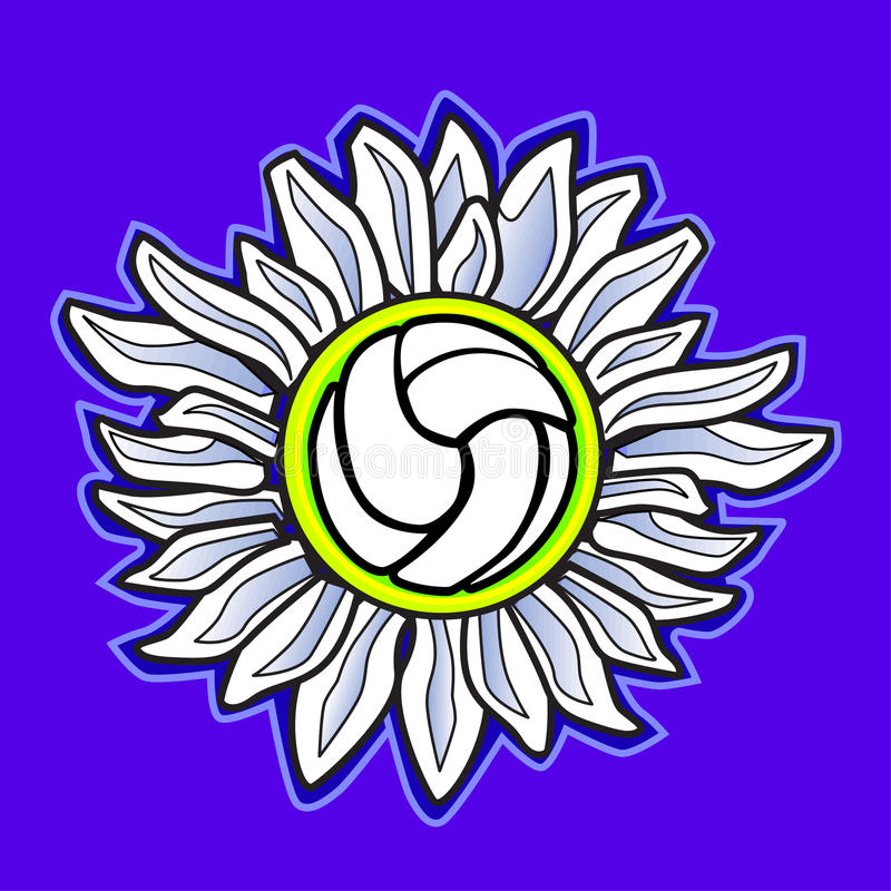Download Volleyball Flower Vector Image Royalty Free Stock Photography - Image: 10435557