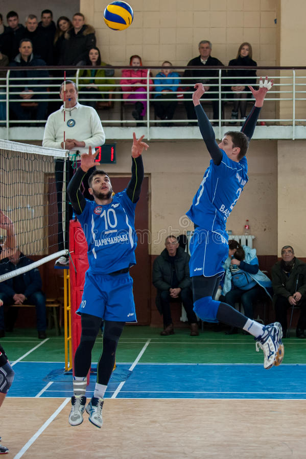 Volleyball game dnipro vs kazhani ukrainian super league men stock photography