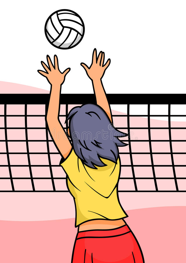 Download Volleyball Girl stock vector. Image of athletic, people - 18725019