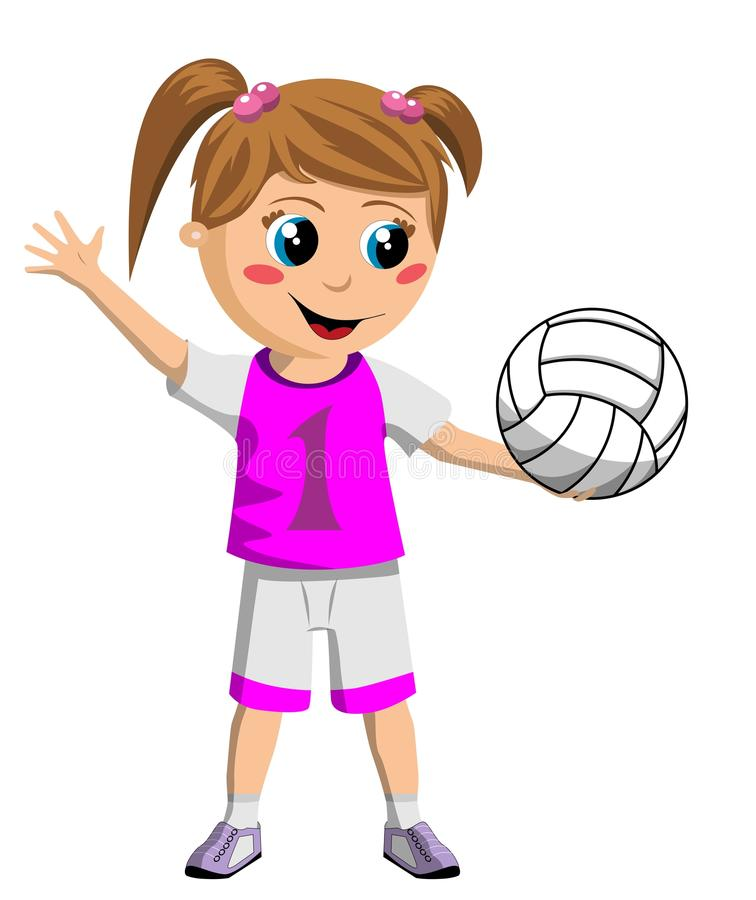 Download Volleyball Girl stock illustration. Image of childhood - 27591558