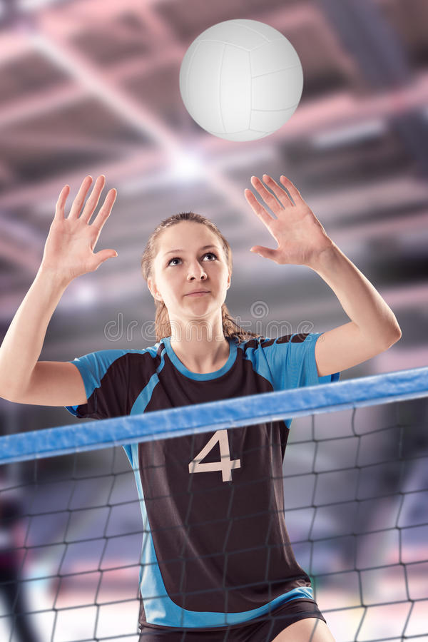 Volleyball girl stock photos