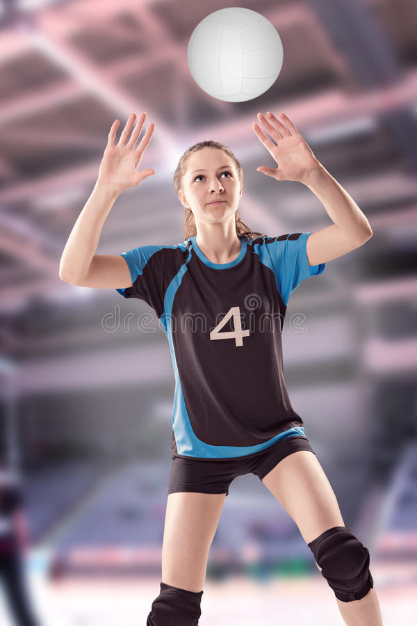 Volleyball girl royalty free stock image