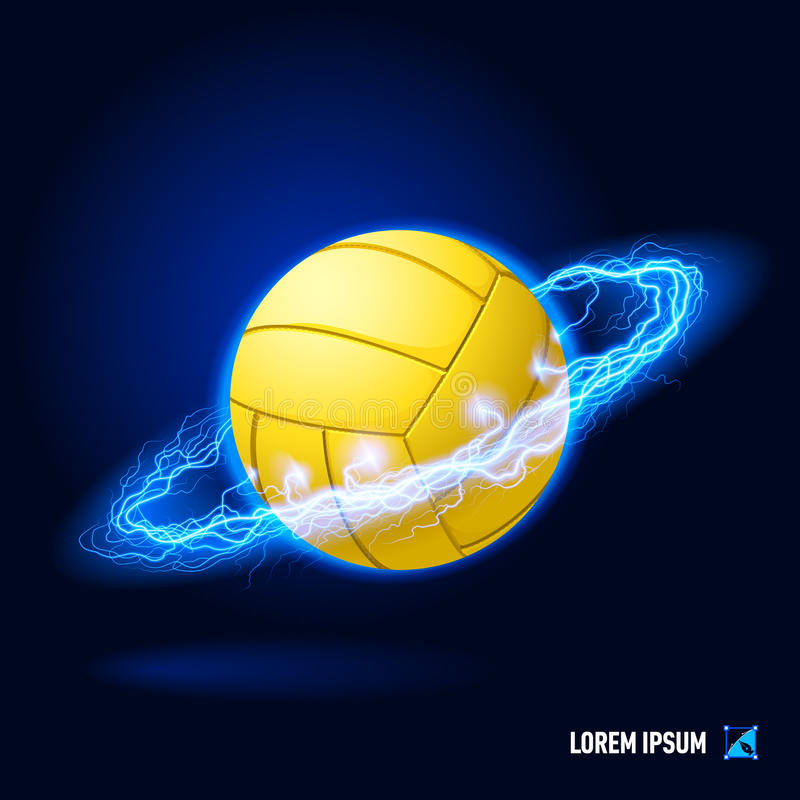 Volleyball high voltage stock illustration
