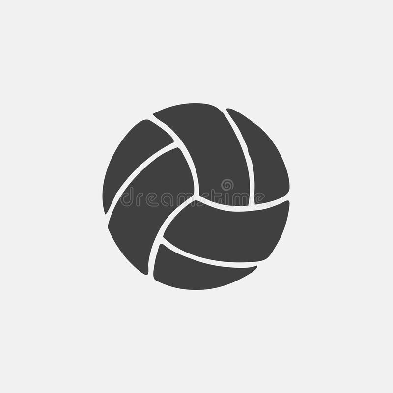 volleyball icon royalty free illustration