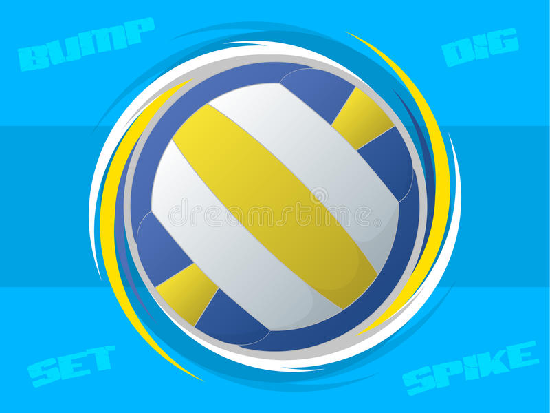Download Volleyball Icon stock vector. Image of spike, ball, sphere - 30731264
