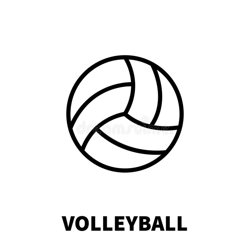 Volleyball icon or logo in modern line style. vector illustration