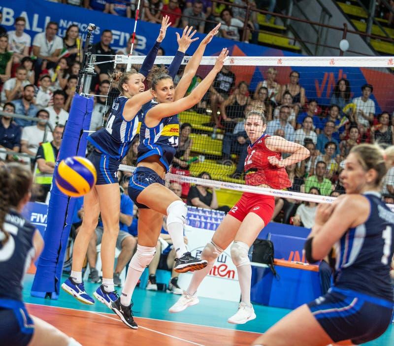 Volleyball Intenaals National League 2019 Ιταλία - Ρωσία στοκ φωτογραφίες με δικαίωμα ελεύθερης χρήσης