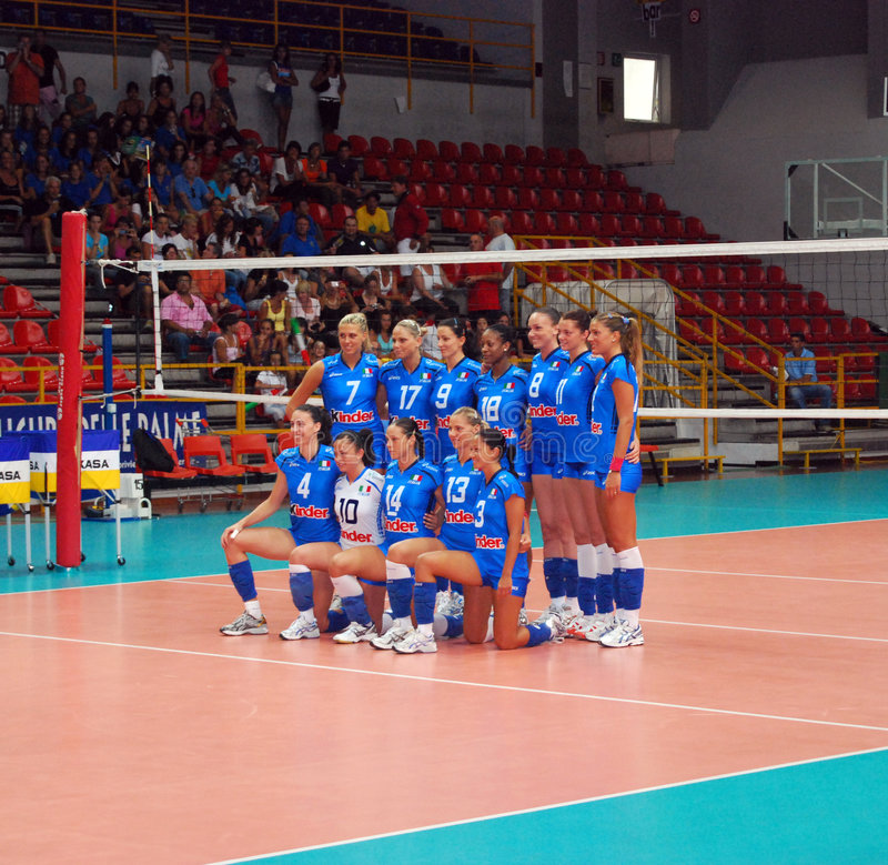 Download Volleyball: The Italian Team Editorial Photography - Image: 5896862