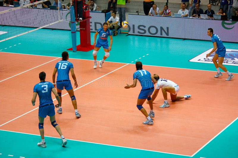 Volleyball: Italian team, action royalty free stock photography