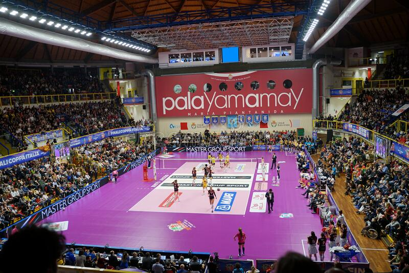 Volleyball Italian Women Cup Finals 2020 - Imoco Conegliano vs Unet E-work Yamamay Busto Arsizio royalty free stock photos