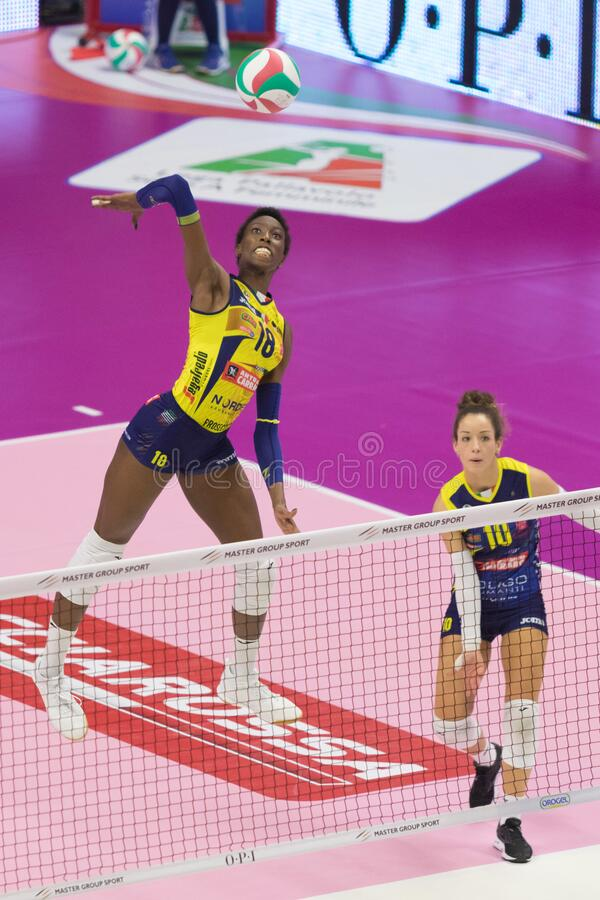 Volleyball Italian Women Cup Finals 2020 - Imoco Conegliano vs Unet E-work Yamamay Busto Arsizio stock images