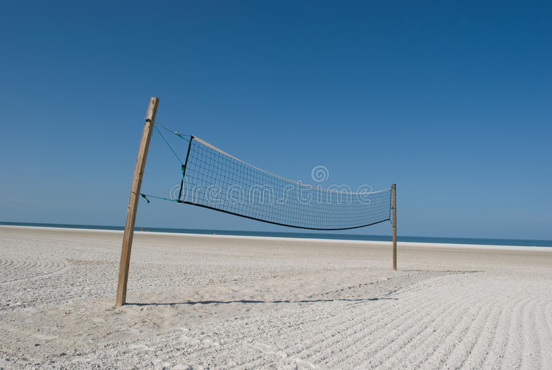 Volleyball jedermann? stockfoto