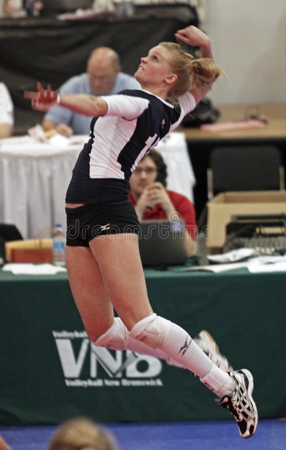 Download Volleyball jump hit editorial stock photo. Image of muscle - 18770663