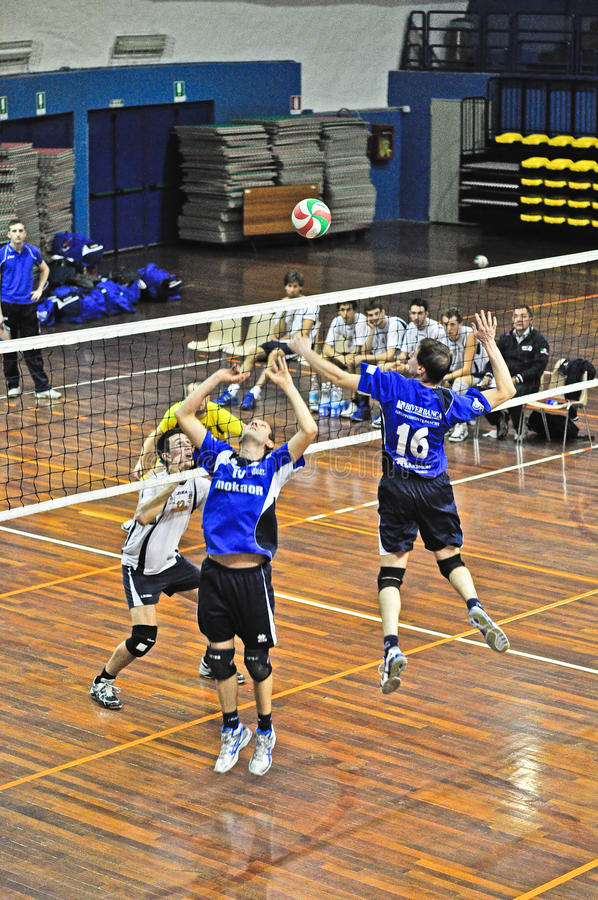 Volleyball match stock images