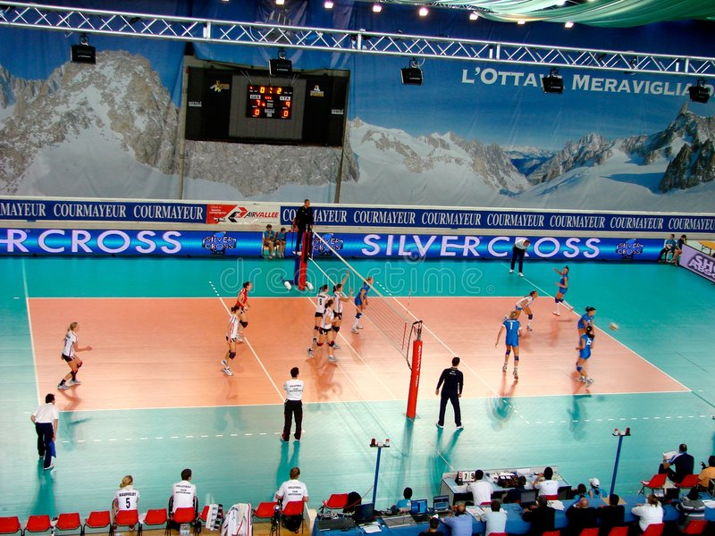 Download Volleyball match: serve editorial stock photo. Image of german - 5455938