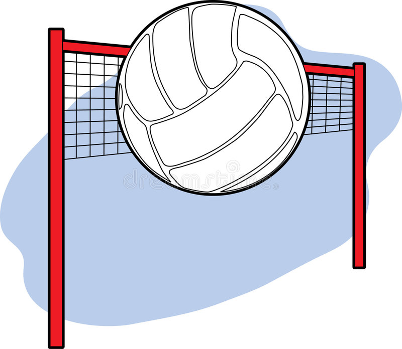 Download Volleyball and Net stock vector. Image of game, ball, equipment - 2081771