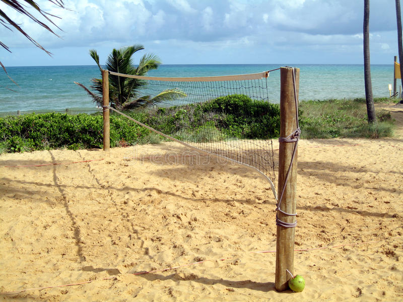 Download Volleyball Net On Pretty Beach Stock Image - Image of relaxation, holidays: 13733771